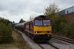 60035 at Burton. 18.10.14 (Joseph 81) Tags: train trains tug freighttrain ews class60 60035 6m54