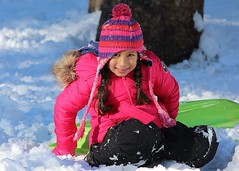 Girl (Addillen Photography) Tags: california pink white snow playing cute girl smile face hat fun eyes day emotion outdoor innocent adorable lovely