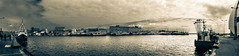 Harbor Hel 2013 (wilco79) Tags: sky bw panorama water sepia clouds canon harbor scenery pov eos500d canonefs18200mmf3556is