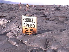 Lava Buried Speed Limit Sign
