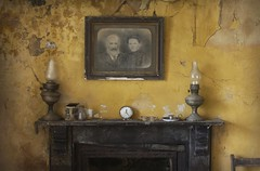 The watching ( explore ) (andre govia.) Tags: abandoned clock yellow vintage dead highlands fireplace closed time photos decay creepy urbanexploration oil ghosts burner derelict decayed decaying urbex decayedbuildings greath andregovia