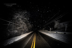 Haunting Winter Highway (Chad E Mason) Tags: road new travel trees ohio white snow black nature alexandria lines yellow mystery night river evening highway darkness state double junction line haunted route maintain covered maintenance mysterious manmade haunting build brilliant mingo steubenville 151 construct
