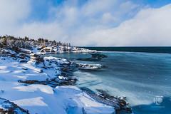 Silky Sea (tom cochrane) Tags: ocean blue winter ice newfoundland slush portauxport 5dmk3