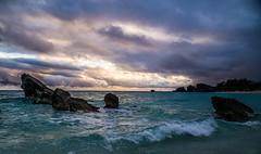 Sunset at Bermuda (JulyRiver) Tags: ocean sunset beach nature water canon see rocks bermuda photostream