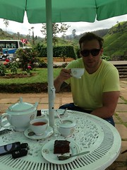 Having a cup of highland tea!