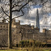 The Shard Looms over the Tower of London