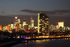 Evening (V - Finally met the man of my life...) Tags: sky london night buildings evening cityscape riverthames eveningview