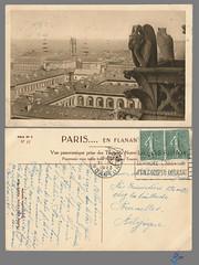 PARIS en flanant - Vue panoramique (bDom) Tags: paris 1900 oldpostcard cartepostale bdom