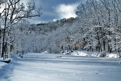 Metropark winter scene.... (GeorgeM757) Tags: winter sky snow weather landscapes
