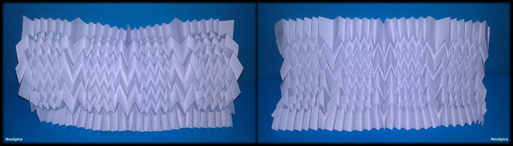 Curved Column With Fractal Folds 2 3 NeoSpica NeoLiveArt Tags Paper