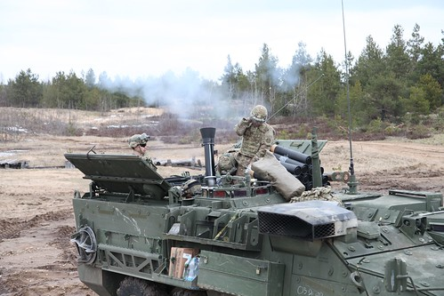 Canadian and American soldiers train on Latvian grounds