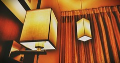 Delight of light. (Rakesh Raut 321) Tags: light classic lamp bulb modern paper gold hotel energy warmth nostalgic dual