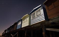 Beach huts, stars and moonlight (rawprints) Tags: beach stars essex frintononsea