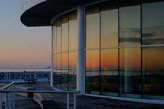 Continuity (jmishefske) Tags: world art museum wisconsin sunrise march twilight nikon downtown technology center science lakemichigan shore milwaukee bluehour discovery hdr lakefront 2015 d800e