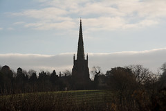 20141231-01_All Saints' Church - Braunston - Cathedral of the Canals (gary.hadden) Tags: church silhouette landscape northamptonshire spire warwickshire allsaints grandunioncanal oxfordcanal braunston