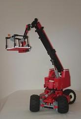 Telescopic Boom Lift (Mrosik) Tags: lift lego boom technic telescopic