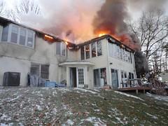 Hilltop Structure Fire