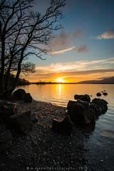 Milarrochy Sunset (w.mekwi photography) Tags: trees sunset lake nature water landscape scotland rocks loch lochlomond milarrochybay nikond800 wmekwiphotography