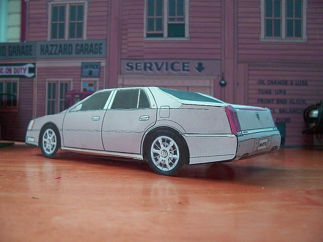 paper toy 2006 cadillac dts 2008 2009 2007 2010 papercraft 2011 cadillacdts papercars papercarmodels