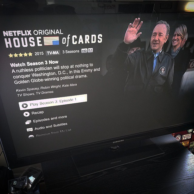Happy HOUSE OF CARDS day. Can I only watch one?