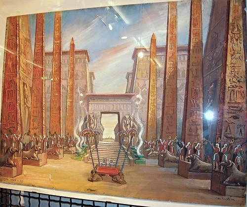 """""""Aida"""" by Giuseppe Verdi - scene designer Cesare Maria Cristini - Season 1968-1969 at Royal San Carlo Theatre - """"MeMus""""=Memory and Music Museum - Royal San Carlo Theatre in Naples"""