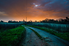 Semi-Surrealism (oliverDSPcollins) Tags: morning light england clouds sunrise countryside early is yeah path country surreal what meant moring surrel
