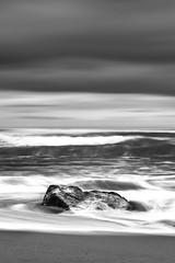 Receding (Marty Friedel) Tags: ocean longexposure sea blackandwhite seascape rock landscape sand au australia victoria greatoceanroad filters princetown gibsonssteps