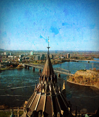 Ottawa River from the Peace Tower (eepeirson) Tags: ottawa ottawariver peacetower parliamenthill txeeptopaz