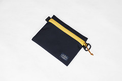 Flat Pouch Blue Yellow 02 (Imagery Bags) Tags: zipper ykk waterresistant flatpouch drypouch