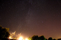 Night over Chopwell (Venvierra @ GothZILLA Photography) Tags: gothzillaphotography canon 600d canon600d eos canoneos canoneos600d stars starscape astrophotography night nightsky nighttime trees buildings lightpollution lights milkyway clear clearskies