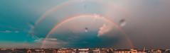 Double Rainbow (masemase) Tags: lbi nj wof wofvi friends holgate jerseyshore july longbeachisland newjersey summer rainbow doublerainbow rainbows beach haven beachhaven nature thunderstorm panorama