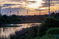 Four Mile Fly (Erinn Shirley) Tags: sunset sky clouds outdoors flyfishing pentacon arlingtonva fourmilerun vintagelens fujixt1 erinnshirley