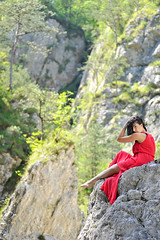 _D3S5128b (Concert Photography and more) Tags: red italy beauty model nikon outdoor july posing carnia beautyqueen 80200mm moggio outdoorshot d3s effeeffe glagnò chantalparadisi 2016junejulyitalyeffeefferedspirit