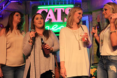 Karaoke at Cat's Meow. (Flagman00) Tags: karaoke catsmeow neworleans frenchquarter  milf gilf hotchicks hot pretty sexy women grandma mom singing stage nightlife group drunk horny
