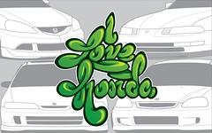 i love honda wallpaper-01 (Ariel Vicioso) Tags: love honda typography civic typo jdm prelude rsx hondaintegra vectorillustration