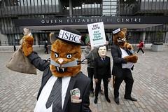 Partying Fat Cat (Robin Hood Tax) Tags: ftt rht robinhoodtax hsbc banks bankers bonuses agm