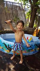 Byron's little pool (Stephenie DeKouadio) Tags: child children kids boy son cute portrait light shadow shadows outdoor
