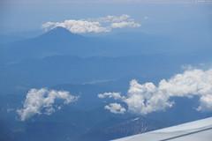 Seeing Mt.Fuji from window seat (Iyhon Chiu) Tags: mountain landscape fuji mountfuji    mtfuji vair windowseat  2016