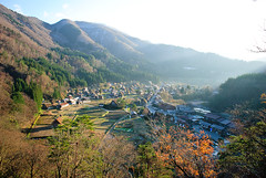 Shirakawa-go: A View from Above (BeautiFuLifeStuDiO) Tags: travel autumn sunset urban reflection heritage nature japan village unesco gifu shirakawago shirakawa gassho ogimachi  zukkuri
