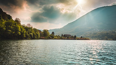 Lago di Endine, Bergamo (salvogualato) Tags: lake endine bergamo landscape nature waters photography fishing sky skyporn sunset skyline mountain lombardia italy