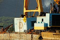 A Calm Work Sight (thetrick113) Tags: donjonmarinecompany emilyann tugboatemilyann donjonmarine donjon hudsonvalley hudsonhighlands steelwaysinc steelways newburghnewyork orangecountynewyork hudsonriver hudsonrivervalley marinecrane atlanticsalvor tugboatatlanticsalvor thomasdwitte tugboatthomasdwitte blue chesapeake1000 marinecranechesapeake1000 sonyslta65v hdr river hudsonrivertugboat manitowoc4600crane manitowoccrane manitowoc barge deckbarge dredgenewarkbay donjondredgenewarkbay newarkbay