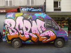 La Berns-mobile (2016) (Archi & Philou) Tags: berns graffiti graffitivan streetart paris11