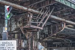 Bridge Underpinnings (PAJ880) Tags: swing bridge charles river boston ma charlestown locks signals signs dam structure decay