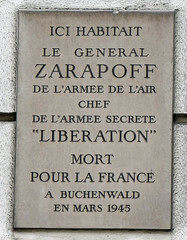 General Zarapoff plaque - 74 rue Raynouard, Paris 16th arr (Monceau) Tags: generalzarapoff plaque 74rueraynouard mortpourlafrance killed buchenwald wwii
