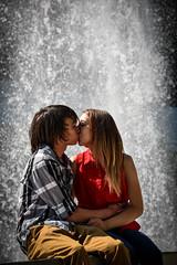 kaela & derek (Cynthia Singen) Tags: couple love adorable people portrait water fountain