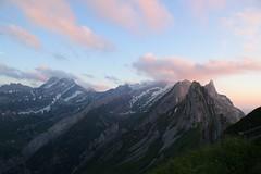 (Giramund) Tags: mountains sunset abendrot peak switzerland appenzell säntis snow light eveningglow