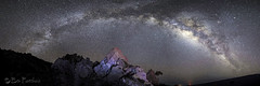 Milky Way panorama (explored) (bodiver) Tags: hawaii maunakea rokinon16mm milkyway night stars stitch silhouette