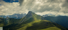 Panoramic Panorama (Double.D - Photography) Tags: austria sterreich hiking wandern draugstein mountains meadow mountain berg berge wiese wolken himmel sky clouds hohen tauern explore outdoor outside canon canon600d doubled sigma 1750mm panorama view