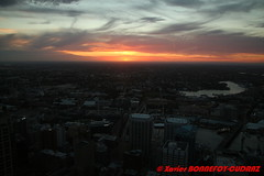 Sunset on Darling Harbour from Sydney Tower (soyouz) Tags: aus australie geo:lat=3387061932 geo:lon=15120903566 geotagged newsouthwales sydney nuit sydneytower darlingharbour sunset australiel