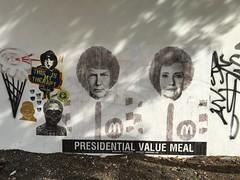 Presidential Value Meal Wynwood (Phillip Pessar) Tags: mural wynwood donald trump hillary clinton miami art